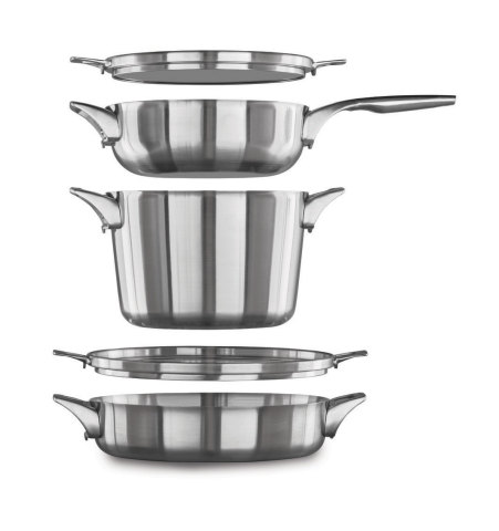 BJ's Wholesale Club announced unbeatable Cyber Week deals on Nov. 27, 2019 on a wide range of items, including the Calphalon Premier Space Saving Stainless Steel Supper Club Cookware, 5-Piece Set for $119.99. (Photo: Business Wire)