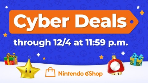 Starting now and running until Dec. 4 at 11:59 p.m. PT, the Nintendo eShop Cyber Deals promotion offers up to 50% off the digital versions of select Nintendo Switch and Nintendo 3DS games. (Graphic: Business Wire)