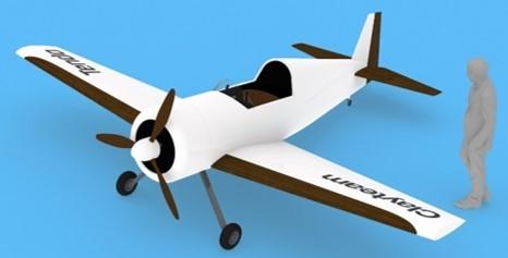 機能性環境調和材料を用いた航空機のコンセプトモデル (株式会社天童木工より提供)