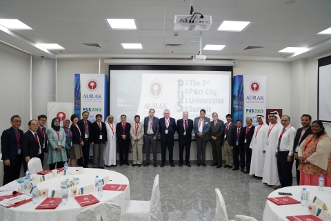 Participants in the '3rd Port City Universities Summit' at the American University of Ras Al Khaimah (Photo: AETOSWire)