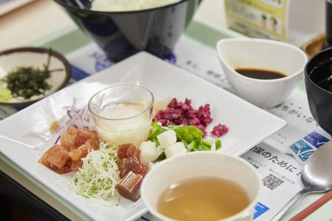 Sustainable seafood served at Panasonic's staff canteens (Photo: Business Wire)
