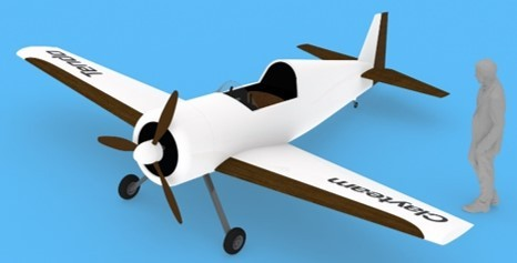 Aircraft concept model using functional environmentally friendly materials (Photo provided by TENDO CO., LTD.)