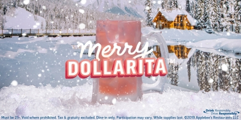 Eat, Drink and Be Merry DOLLARITA this December at Applebee's®  (Graphic: Business Wire)
