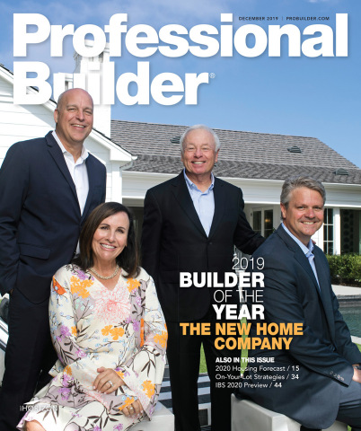 The New Home Company executive team featured on cover of Professional Builder Magazine. (Graphic: Business Wire)