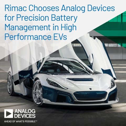 Rimac Chooses Analog Devices to Enable Precision Battery Management in High Performance Electric Vehicles (Photo: Business Wire)