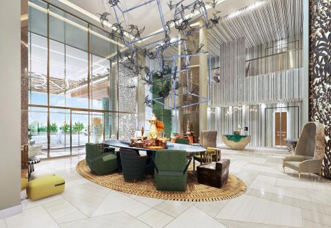 Lobby inside Andaz Dubai The Palm (Photo: Business Wire)