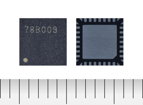 """Toshiba: a three-phase brushless motor control pre-driver IC """"TC78B009FTG"""" for high-speed fans used in servers and cordless vacuum cleaners. (Photo: Business Wire)"""