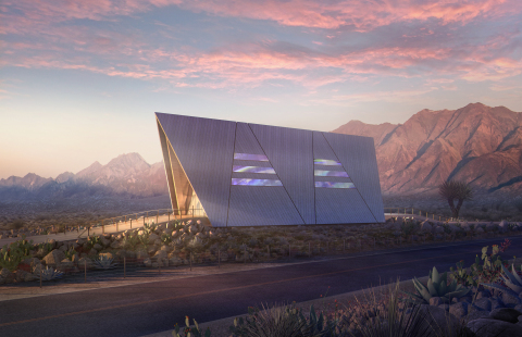 Oklo Aurora powerhouse rendering - desert (Photo: Business Wire)