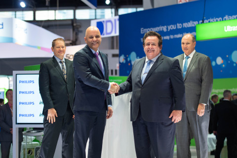 Leaders from Philips and Inspira Health at RSNA, from left to right: Craig Peters, Regional Director, Philips North America; Vitor Rocha, Chief Market Leader, Philips North America; John DiAngelo, President and CEO of Inspira Health; Tom Pacek, CIO of Inspira Health (Photo: Business Wire)