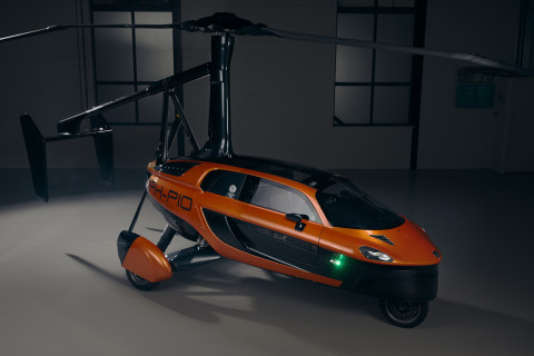 "PAL-V Pioneer flying car prototype will be on display at PARAMOUNT Miami Worldcenter's ""Miami 2020 and Beyond"" Exhibit during Miami Art Week  (Photo: Business Wire)"