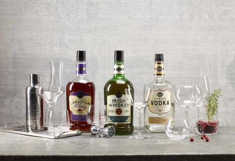 BJ's Wholesale Club announced a premium spirits collection from the retailer's exclusive brand, Wellsley Farms® on Tuesday, Dec. 3, 2019. BJ's members can find the new spirits, which include vodka, Canadian Whisky and Irish Whiskey, in select BJ's clubs. (Photo: Business Wire)