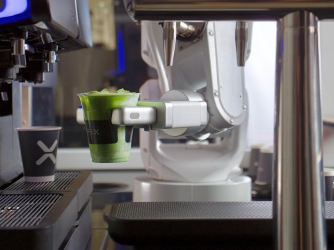 A friendly robotic barista that serves specialty coffee, tea, pastries, and more (Photo: Business Wire)