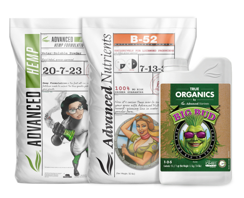 Advanced Nutrients Launches Three New Products in Celebration of Milestone 20th Anniversary at MJBizCon: Water Soluble Powders, Advanced Hemp and True Organics Products (Photo: Business Wire)