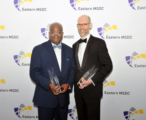 AmeriHealth Caritas, a national leader in Medicaid managed care and other health care solutions for those most in need, was recently named the Regional Corporation of the Year by the Eastern Minority Supplier Development Council (EMSDC) for its commitment to engaging diverse businesses. Additionally, AmeriHealth Caritas Director of Supplier Diversity Ron Baldwin, pictured left with AmeriHealth Caritas Vice President and Chief Procurement Officer Chad Goodwin, was presented with the 2019 President's Award, which is given annually to a business or government leader who demonstrates a passion for economic justice and minority business development. The awards were presented by the EMSDC at its 2019 Choice Awards Gala on November 22 at Vie in Philadelphia. Photo Credit: Martin Regusters, Leaping Lion Photography