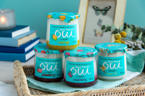 Today Yoplait unveiled its first premium plant-based, non-dairy option in the U.S., which squarely aligns with growing consumer interest plant-based foods. New Oui Dairy Free Coconut Dairy Alternative is made with a coconut base and paired with flavors such as vanilla, strawberry, mango, and raspberry to deliver a creamy and indulgent taste experience. Oui Dairy Free is currently in limited release and will be widely available nationwide in January 2020. (Photo: Yoplait)