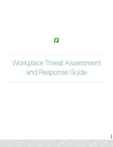 Paycom's Workplace Threat Assessment and Response Guide cover (Photo: Business Wire)