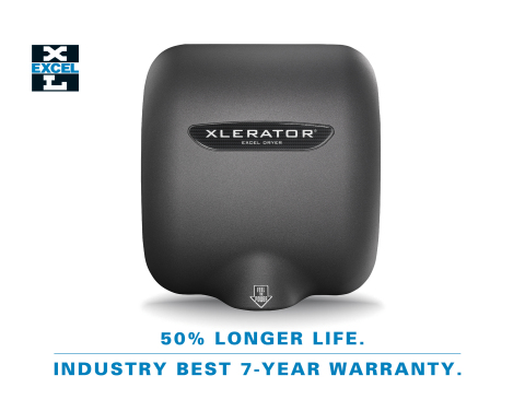 XLERATOR hand dryer models now offered with 50% longer life and industry-leading 7-year warranty; Improvements come without an increase in price (Photo: Business Wire)