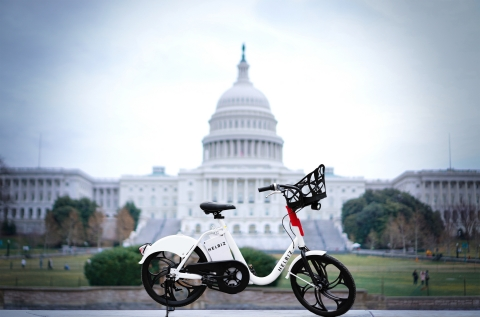 Helbiz has been awarded a one-year permit to operate its fleet of e-bikes in Washington, D.C. (Photo: Business Wire)