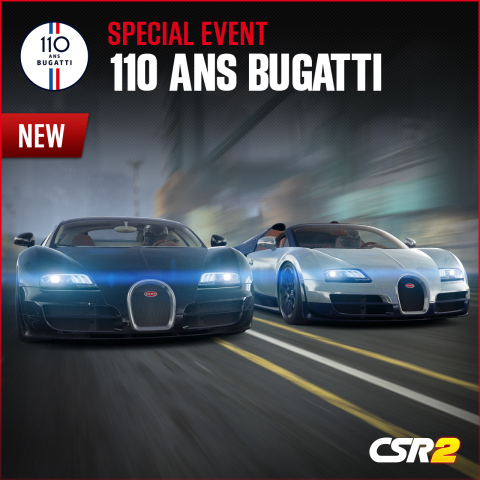 Zynga Celebrates Bugatti's 110th Anniversary with Special CSR Racing 2 Event Series (Photo: Business Wire)