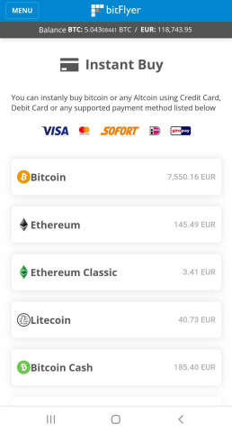 Instant Buy is now available with bitFlyer Buy/Sell (Photo: Business Wire)