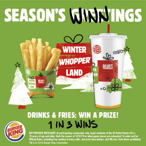 BURGER KING® Restaurants Announces Winter Whopperland Sweepstakes (Graphic: Business Wire)