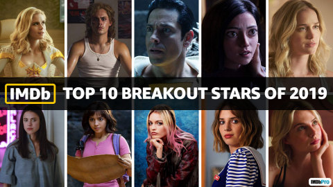 IMDb Top Breakout Stars of 2019, as determined by page views. IMDb is the #1 movie website in the world. (Photo courtesy of IMDb)