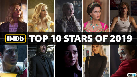 IMDb Top Stars of 2019, as determined by page views. IMDb is the #1 movie website in the world. (Photo courtesy of IMDb)