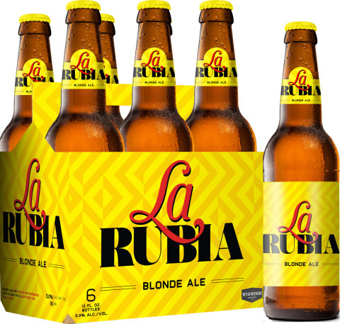 "La Rubia Blonde Ale Says ""Bievenidos Al Nuevo Latin Flavor"" to New York and Connecticut (Graphic: Business Wire)"