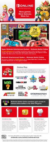 Whether you're buying a Nintendo Switch system as a gift this holiday season or you've managed to snag a new Nintendo Switch Lite system for yourself, a Nintendo Switch Online membership can help you experience everything Nintendo Switch has to offer. (Photo: Business Wire)