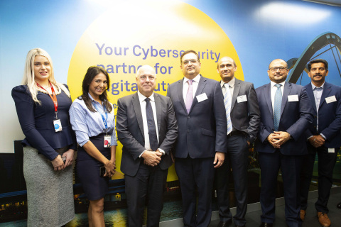 Wipro Launches NextGen Cybersecurity Defence Centre in Melbourne, Australia. From left to right: Katerina Taipova, Assistant Manager, International Ops Team, Wipro Ltd; Garima Sinha, Director, APJ Geo Marketing Head, Wipro Ltd; Tim Pallas, Minister for Economic Development, Parliament of Victoria; Praveen Nichani, General Manager, ANZ Public Sector, Wipro Ltd; Jayeshkumar Harimadhavan Warier, Practice Head, Cybersecurity Services, Asia Pacific and Japan, Wipro Ltd; Claude Khoury, Director, Cybersecurity & Risk Services, Wipro Ltd; Jayakumar Nair, Senior Manager, International Ops Team, Wipro Ltd (Photo: Business Wire)