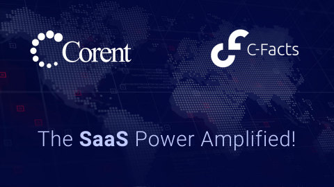 Corent Technology, a leader in cloud optimization and modernization technologies, and C-Facts, a platform provider for cloud cost, sustainability, and compliance monitoring, have jointly announced the signing of a cooperation agreement. (Graphic: Business Wire)