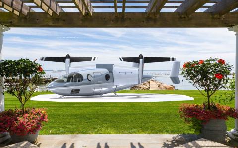 Vy 400R on backyard landing pad (Photo: Transcend Air)