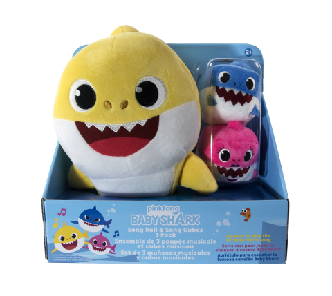 BJ's Wholesale Club is making spirits bright with amazing savings on this year's hottest gifts, including the WowWee Baby Shark Sound Doll with Mommy and Daddy Cubes. (Photo: Business Wire)
