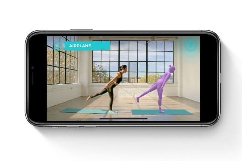 PIVOT Yoga's platform allows live avatar display inside an online class video, giving detailed on-demand feedback on how to correct alignment and perfect your poses through the app. (Photo: Business Wire)