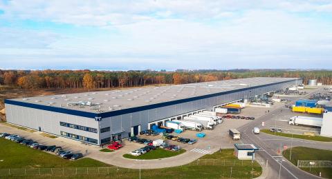 Das Autodoc Lager in Stettin, Polen, das ab dem Frühjahr 2020 rund 27.000 m2 Lagerfläche bereitstellen wird. (Photo: Business Wire)