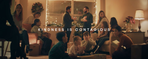 """Klick Health today released its """"Contagious"""" holiday video, inspired by viral YouTube videos showing random acts of kindness. For every view, Klick will donate $1 to the Fred Rogers Center. (Photo: Business Wire)"""