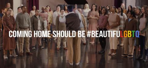 Rentrer à la maison devrait être #BEAUTIFULGBTQ (Photo: Business Wire)