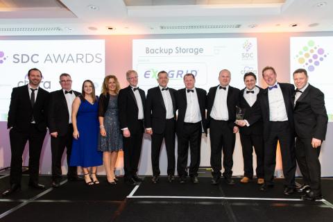 """ExaGrid在2019年存储、数字化和云(SDC)大奖中被票选为""""年度最佳备份存储创新"""" 奖。(照片:美国商业资讯)"""