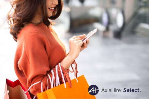 AxleHire Select allows consumers to select the most convenient 4-hour window for Next Day Package Delivery and Same Day Delivery Service. (Photo: Business Wire)