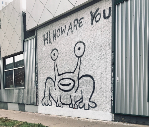 The Hi, How Are You mural in Austin, Texas. (Photo: Business Wire)