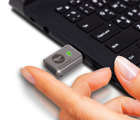 The New Kanguru Defender Bio-Elite30 Fingerprint Hardware Encrypted Flash Drive is OS Agnostic, remotely manageable, and provides best-in-class encryption with easy fingerprint access! (Photo: Business Wire)