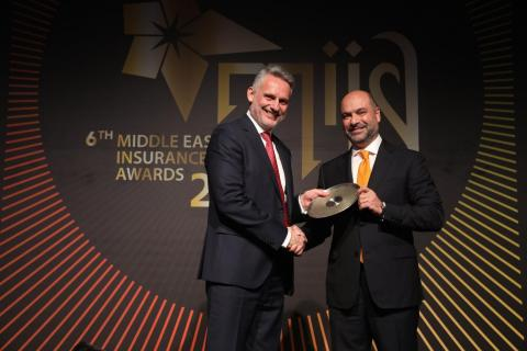 Dimitris Mazarakis, MetLife Gulf General Manager accepting the award on behalf of MetLife. (Photo: Business Wire)