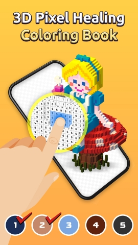 BUFF STUDIO hat My Coloring, ein mobiles 3D-Pixel-Kunst-Malbuchspiel, in 155 Ländern gleichzeitig herausgebracht. My Coloring ist ein Spiel, das ein 3D-Pixel-Kunst-Malbuch auf mobilen Geräten realisiert. Ihr Stress ist wie weggeblasen, wenn Sie Flächen in der Reihenfolge der Zahlen auf dem Bildschirm ausmalen, während Sie beruhigende Nachrichten lesen. Entspannende Hintergrundmusik, die Sie während des Spiels hören werden, sowie sein märchenhaftes Design werden Ihnen Freude und Glück bereiten. Sie können es kostenlos bei Google Play und im Apple App Store herunterladen. (Grafik: Business Wire)
