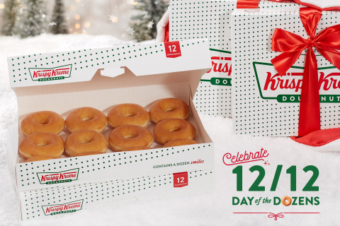 On 12/12, fans will be offered a dozen Original Glazed Doughnuts for just $1 with the purchase of any dozen at regular price (Photo: Business Wire)