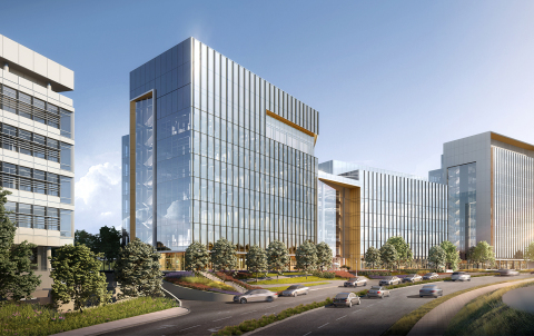 Boulevard view of BioMed Realty's Gateway of Pacific Phase 2 in South San Francisco. (Photo: Business Wire)