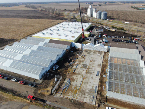 Cresco Labs harvests first crop from their expanded 224,000 sqft Cultivation Facility in Lincoln, Illinois (Photo: Business Wire)