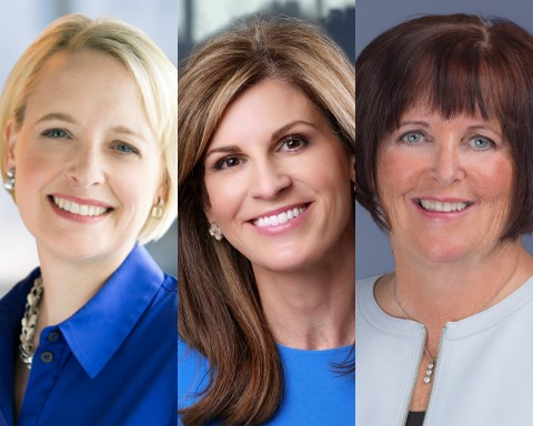 Julie Sweet, the CEO of Accenture, Jennifer Morgan the Co-CEO of SAP, and Margaret Keane, the CEO of Synchrony, will be the Co-Chairs of the 2020 Great Place to Work For All Summit. (Photo: Business Wire)