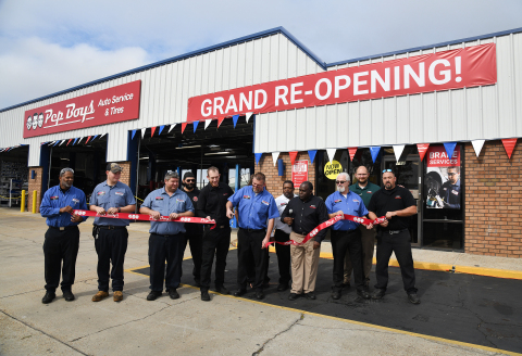 The local Pep Boys team celebrates the grand re-opening of Panama City Service and Tire Center. (Photo: Business Wire)
