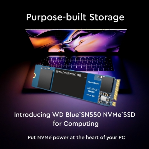 Introducing Western Digital's WD Blue SN550 NVMe SSD for Computing (Graphic: Business Wire)