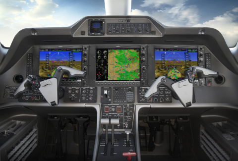G1000 NXi integrated flight deck in the Phenom 100. (Photo: Business Wire)